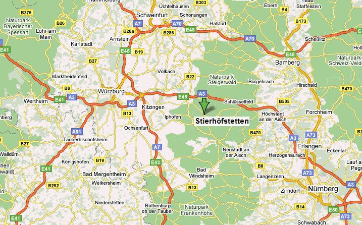 Karte Würzburg Und Umgebung.Ferienbauernhof Beyer 91483 Oberscheinfeld Franken Steigerwald